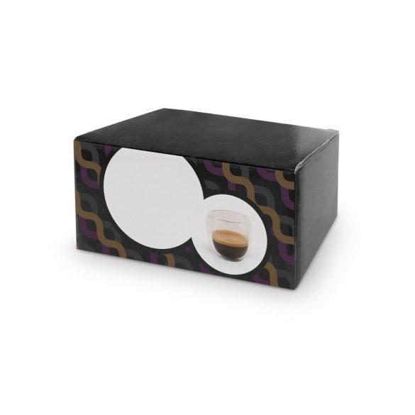 Set 2 cesti de cafea, Everestus, 20IAN1140, Transparent, Sticla