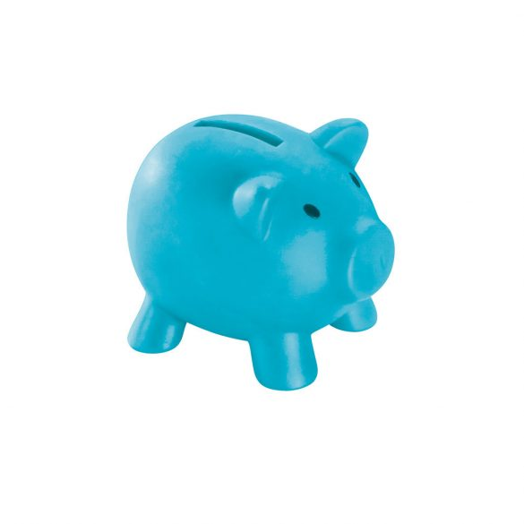 Coin bank, PVC, Light blue