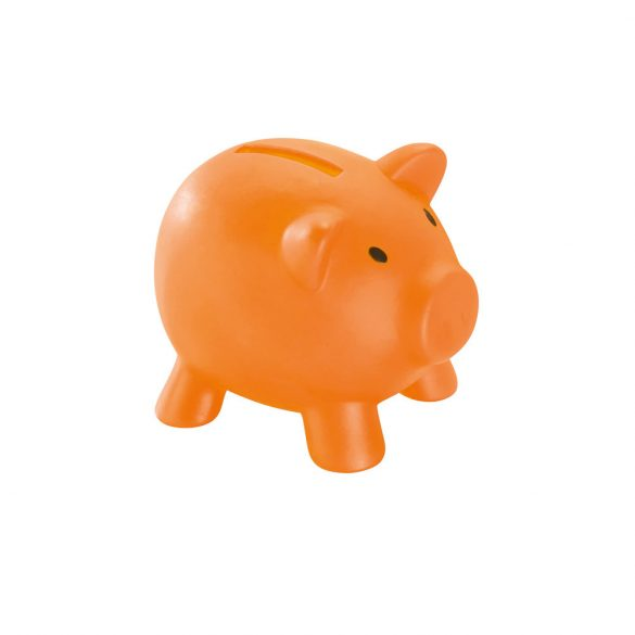 Coin bank, PVC, Orange