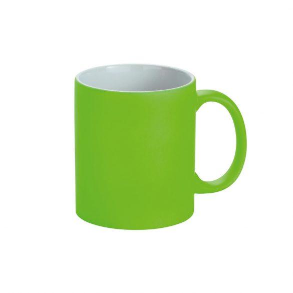 Cana ceramica 350 ml cu finisare neon mat, Everestus, 20IAN1152, Verde
