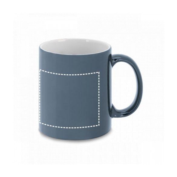 Cana ceramica 350 ml cu finisare metalica, Everestus, 20IAN1154, Argintiu