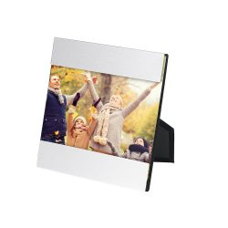 Photo holder, Aluminium, Satin silver