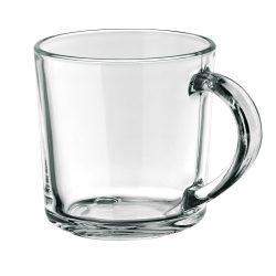 Cana 280 ml cu un zambet pe partea inferioara, Everestus, 20FEB0838, Sticla, Transparent