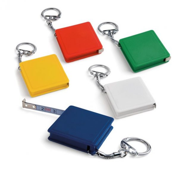 Breloc ruleta 1 metru, Everestus, KR0560, plastic, metal, alb
