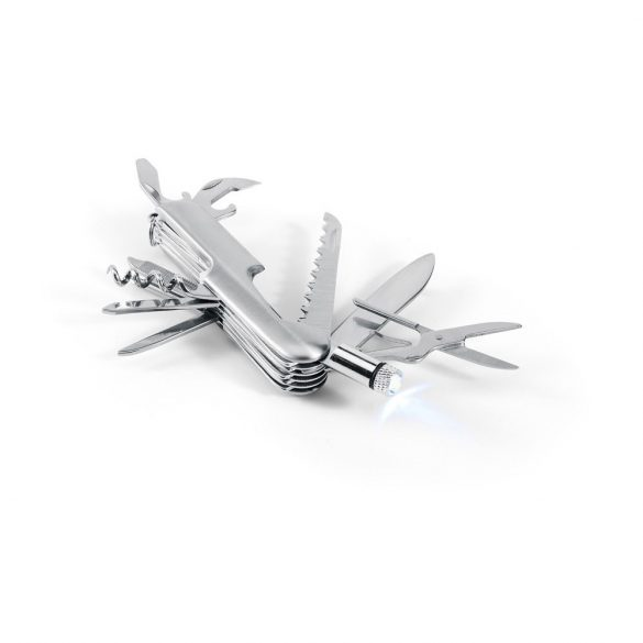 Briceag multifunctional, otel inoxidabil, metal, Everestus, BMU038, argintiu