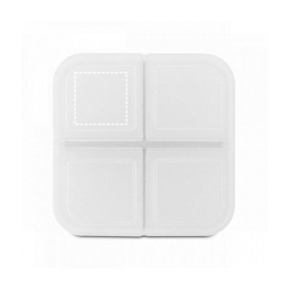 Pill box, White