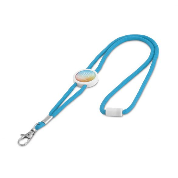 Lanyard, Polyester, Light blue