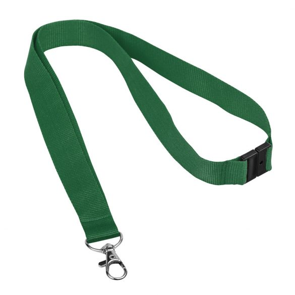Lanyard cu carabina metalica, Everestus, 20FEB0350, Poliester, Metal, Verde