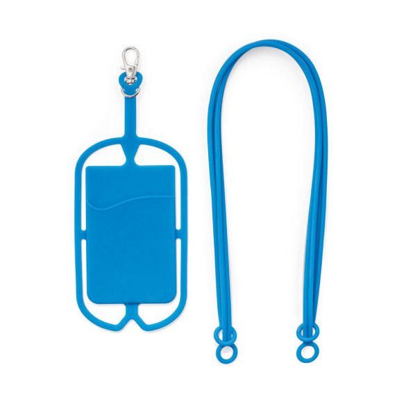 Card holder, Silicone, Light blue