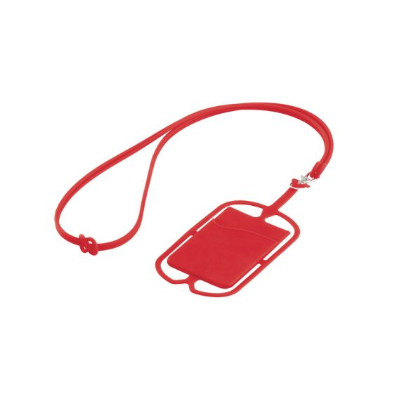 Card holder, Silicone, Red