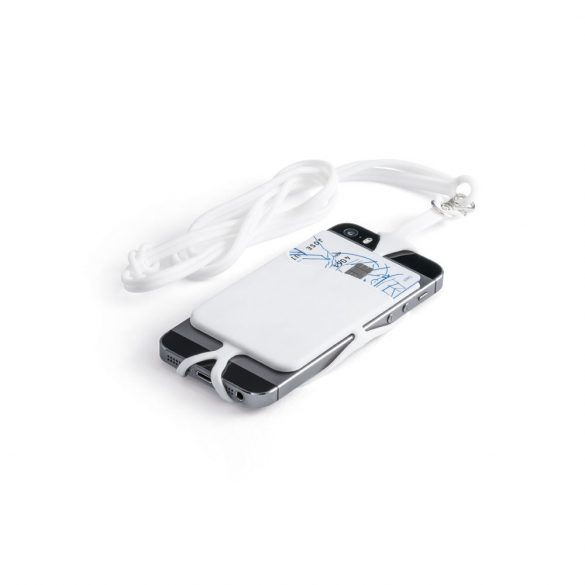 Card holder, Silicone, White