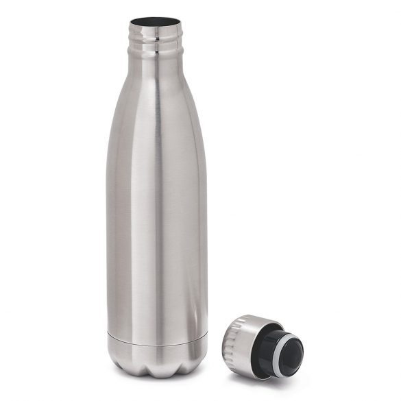 Sticla de apa sport 510 ml, perete dublu, Everestus, 20FEB1109, Otel, Argintiu