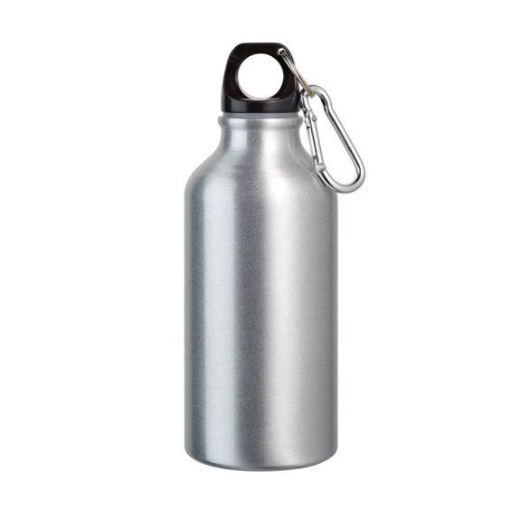 Sports bottle, Aluminium, Satin silver