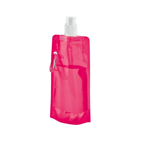 Sticla de apa pliabila 460 ml, Everestus, 20FEB1098, Polietilena, Roz
