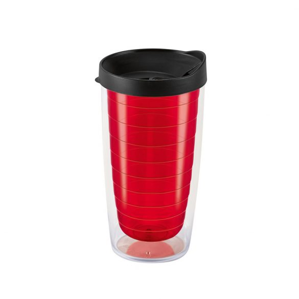 Travel cup, PP, Red