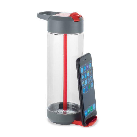 Sticla sport 750 ml cu suport incorporat pentru smartphone, Everestus, SB05, tritan, rosu