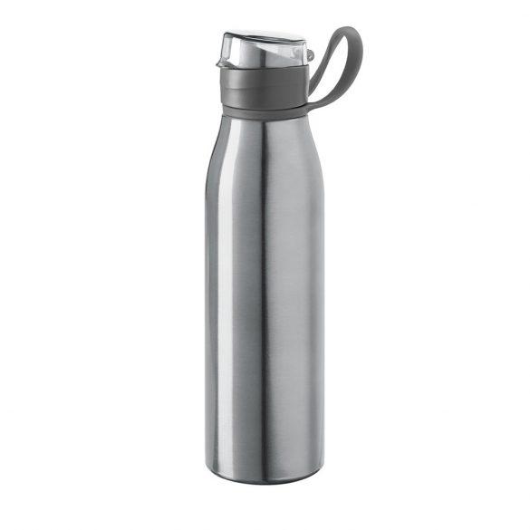 Sticla sport de apa, 650 ml, Everestus, SB23, aluminiu, plastic, argintiu satinat