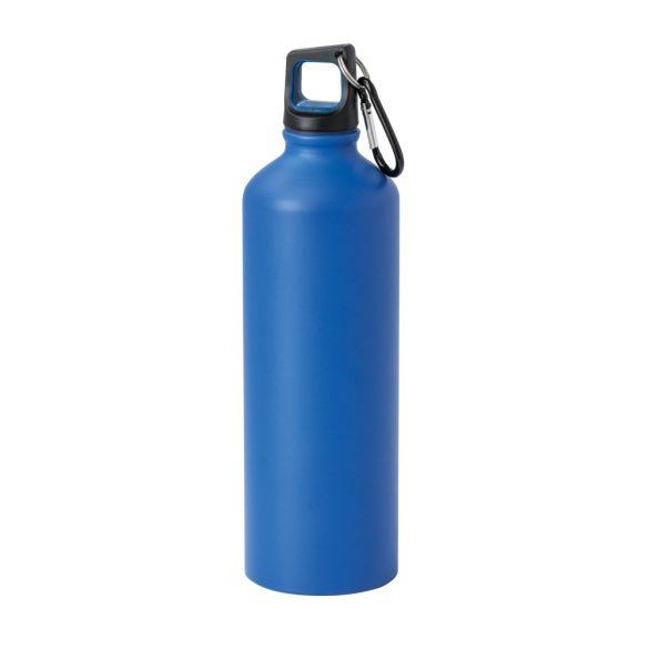 Sticla sport 750 ml cu carabina, Everestus, SB26, aluminiu, albastru