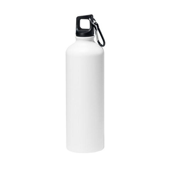 Sticla sport 750 ml cu carabina, Everestus, SB29, aluminiu, alb