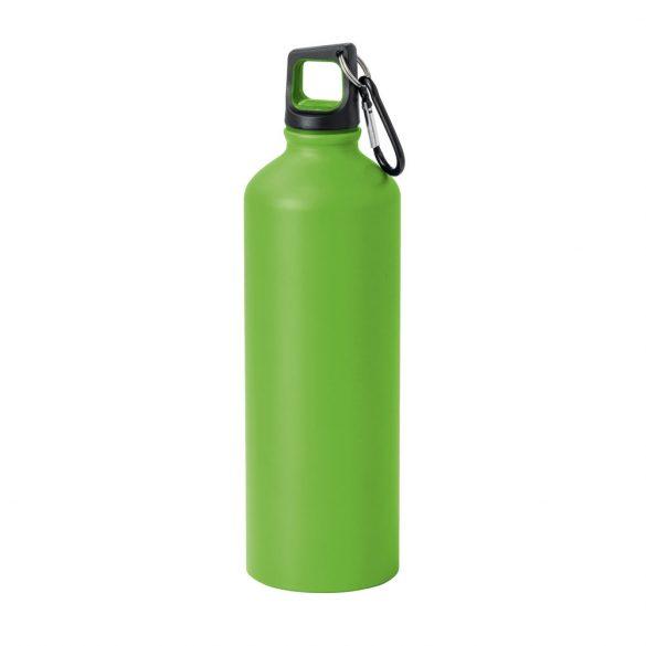 Sticla sport 750 ml cu carabina, Everestus, SB27, aluminiu, verde deschis