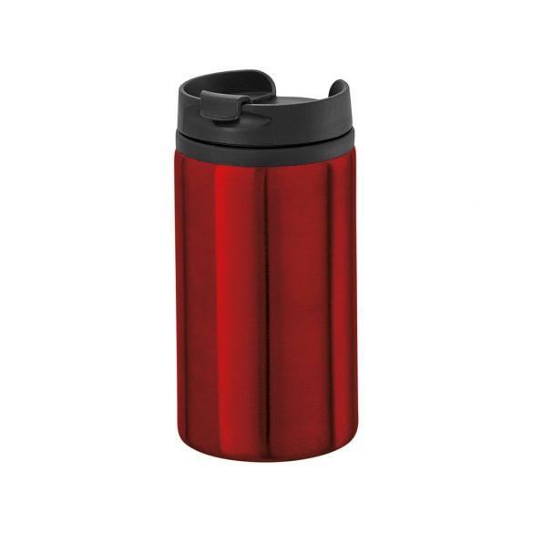 Cana de voiaj 310 ml cu baza antiderapanta, Everestus, 20IAN1546, Rosu, Otel, Polipropilena