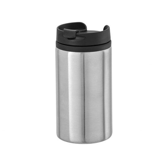 Cana de voiaj 310 ml cu baza antiderapanta, Everestus, 20IAN1548, Argintiu, Otel, Polipropilena
