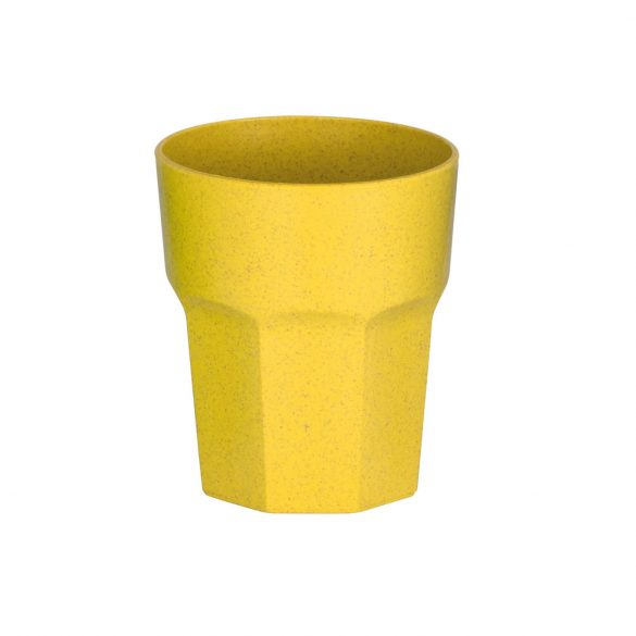 Cup, Rice fiber and PP, Yellow