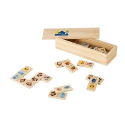 Joc Domino cu figuri de animale, 147x50x30 mm, Everestus, SGS05, lemn, natur