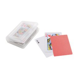 Pack of 54 cards, Laminated paper, Red