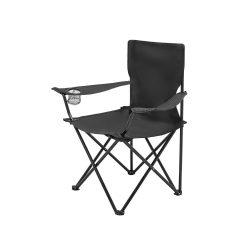 Scaun pliabil pentru plaja sau picnic, Everestus, 20FEB1322, Poliester 600D, Negru