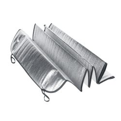 Car sunshade, PE foam. Lined with 1 aluminium foil, Silver