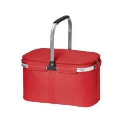 Cos picnic flexibil cu fermoar dublu, fara accesorii, Everestus, 20FEB0932, Poliester 600D, Rosu