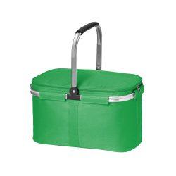 Cos picnic flexibil cu fermoar dublu, fara accesorii, Everestus, 20FEB0931, Poliester 600D, Verde
