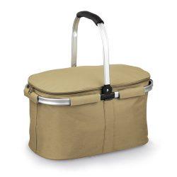 Cos picnic flexibil, cu fermoar, Everestus, 20IUN0366, Maro, Poliester