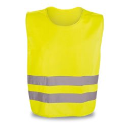 Reflective vest, 100% polyester, Yellow