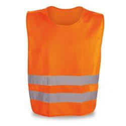 Reflective vest, 100% polyester, Orange