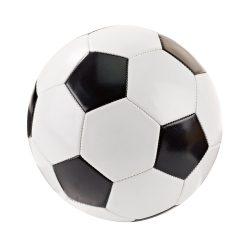 Minge de fotbal, marime 5, Everestus, FL01, alb, negru, pvc