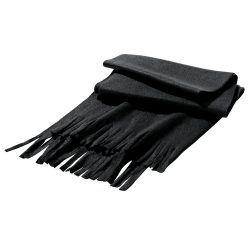 Scarf, Polar fleece: 200 g/m², Black