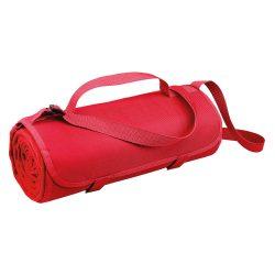 Patura picnic 150x120 cm cu maner si bretea de umar, Everestus, 20FEB1356, Material textil, Rosu