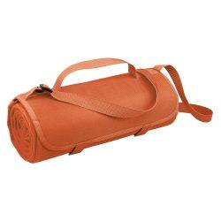 Patura picnic 150x120 cm cu maner si bretea de umar, Everestus, 20FEB1355, Material textil, Portocaliu