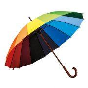 Umbrela de ploaie cu deschidere manuala 102 cm, maner din lemn, Everestus, 20FEB0316, Poliester, Multicolor