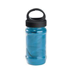 Prosop gimnastica in sticla cu maner, poliamida, poliester, 30x80 cm, Everestus, SPF028, albastru deschis, saculet sport inclus