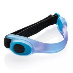 Curea de siguranta cu led-uri pentru brat, Everestus, 20IAN078, Termoplastic, Poliester, Albastru