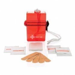 Set de prim ajutor rezistent la apa, polistiren, Everestus, TSPA21, rosu, saculet de calatorie inclus