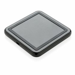 Incarcator wireless 5W cu logo luminos, Everestus, LO, abs, silicon, negru