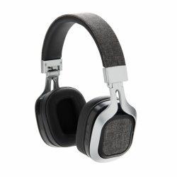 Casti audio wireless, pliabile, cu inserturi de material textil, XD, VE, abs, gri