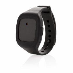 Dispozitiv cu alarma pentru situatii de urgenta, Everestus, AM01, silicon, abs, negru, saculet de calatorie inclus