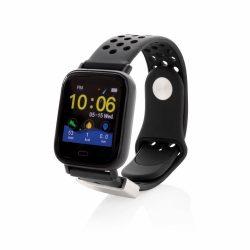 Smartwatch cu ecran de 1.3 inch, Everestus, 20IAN2540, Negru, ABS, Silicon