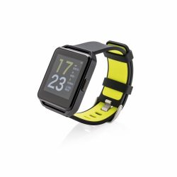 Ceas monitorizare activitati cu ecran color de 1.54 inch, Everestus, FL, metal, silicon, negru
