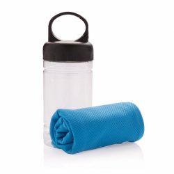 Prosop racoritor in sticla cu maner, Everestus, CG02, polipropilena, abs, albastru, saculet sport inclus